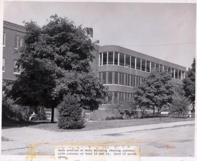 Rear of Gragg building, ca. 1950s
