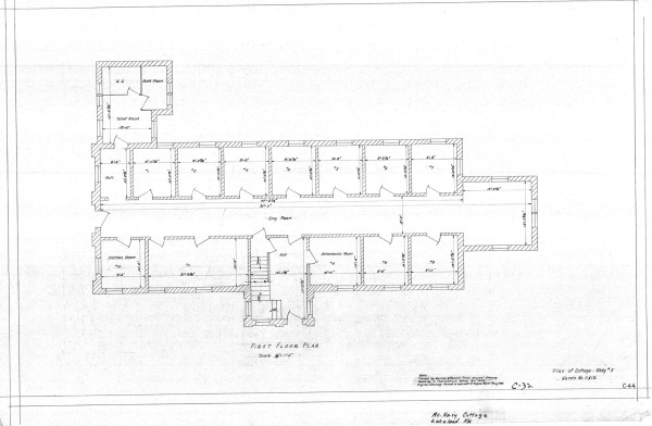 Csh blueprints kentucky historic institutions blueprint of mcnary cottage malvernweather Images