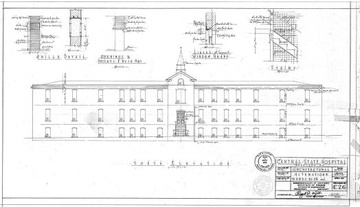 Csh blueprints kentucky historic institutions proposed plan for the remodeling of male wards 21 25 malvernweather Images