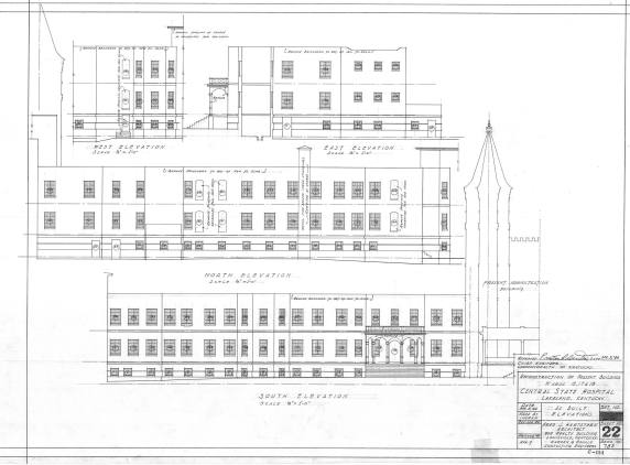 Csh blueprints kentucky historic institutions blueprints for the proposed redesign of the administration building malvernweather Images