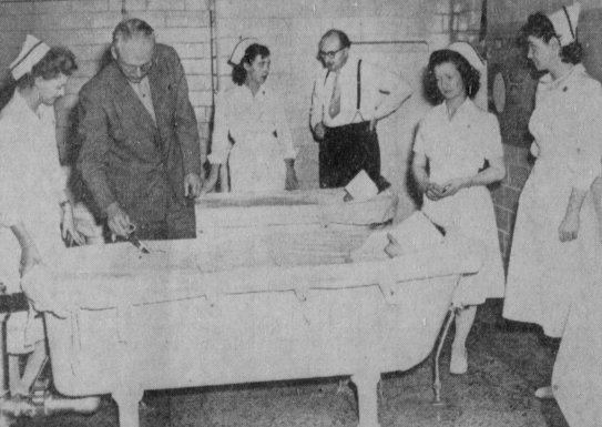 Hydrotherapy at Idaho State Hospital.